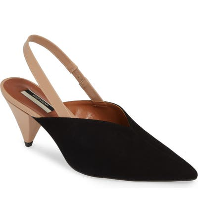 Topshop Slingback Pointy Toe Pump- Black