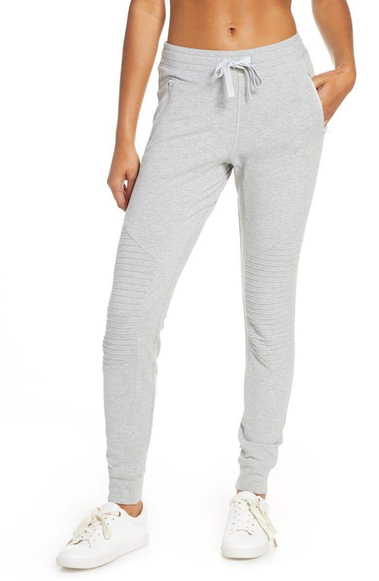 ALO Urban Moto Sweatpants, Main, color, DOVE GREY HEATHER