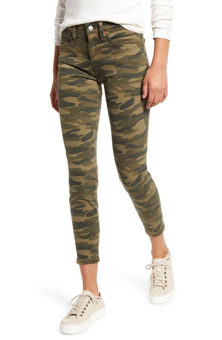 LUCKY BRAND Ava Skinny Jeans, Main, color, CLASSIC CAMO
