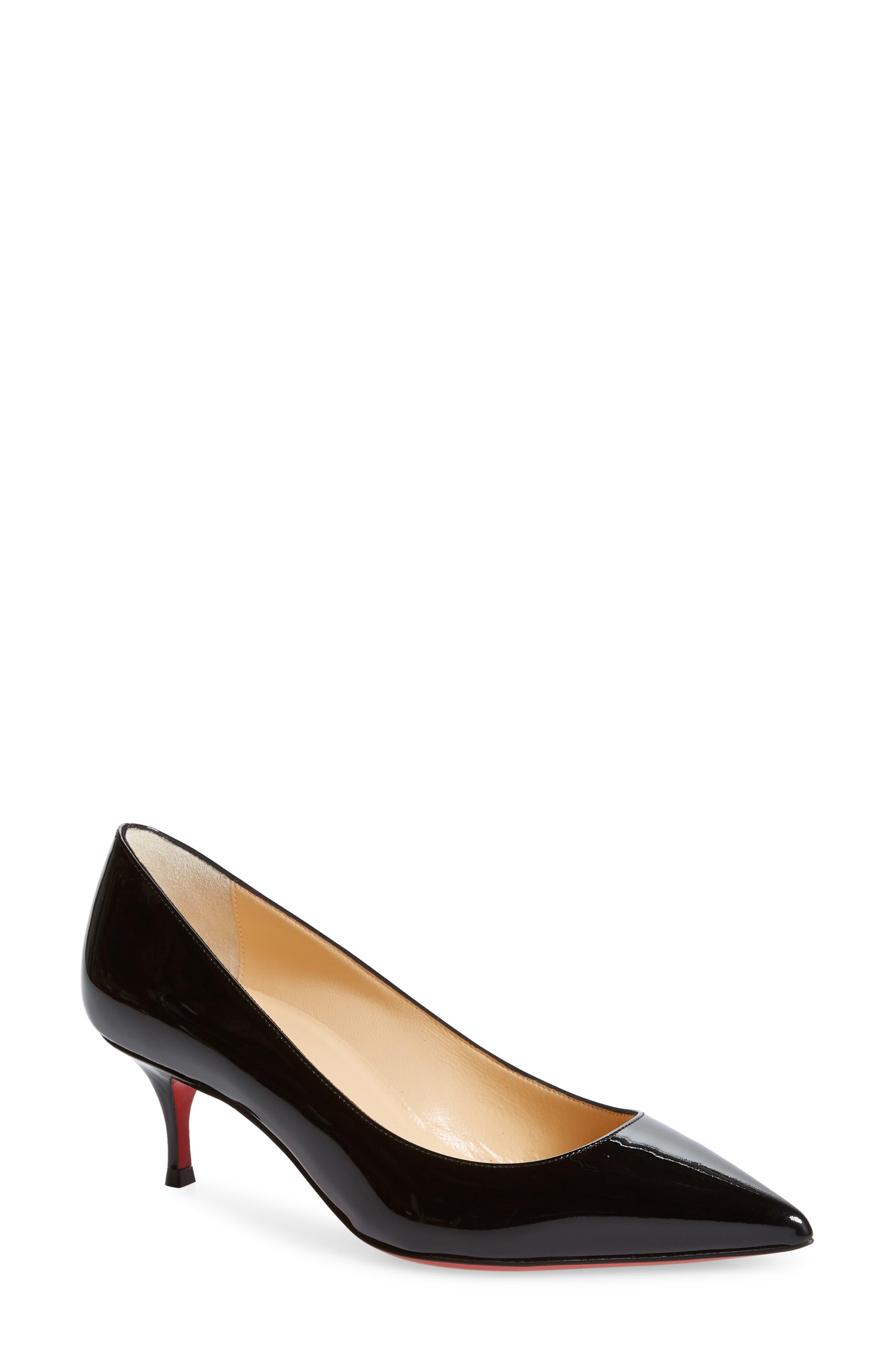 Christian Louboutin Kate Kitten Heel Pointy Toe Pump, Black
