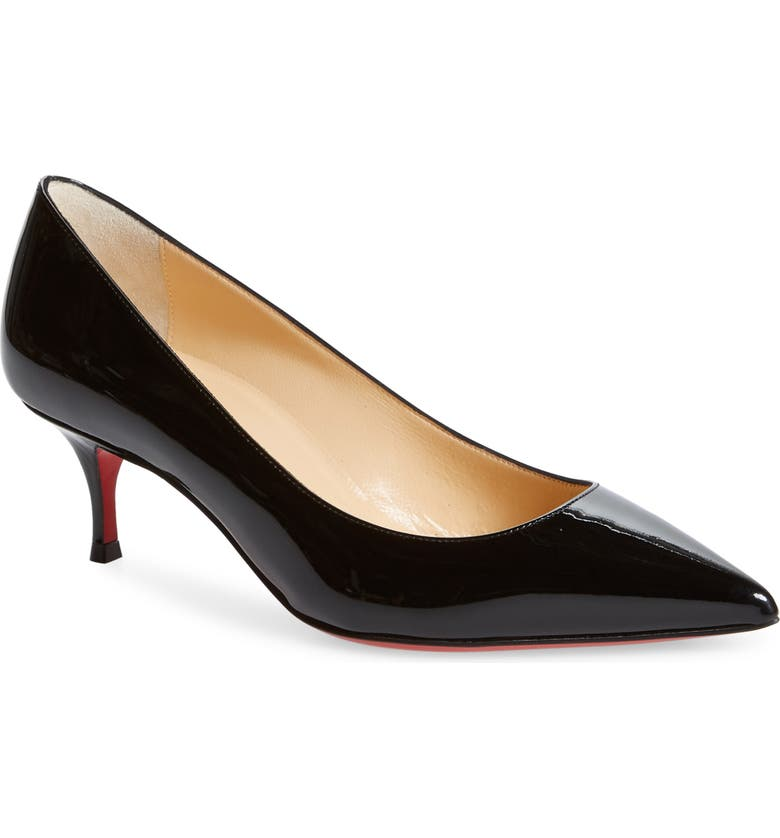 CHRISTIAN LOUBOUTIN Kate Kitten Heel Pointy Toe Pump, Main, color, BLACK
