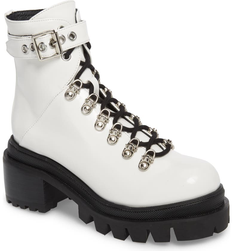 JEFFREY CAMPBELL Czech Platform Combat Boot, Main, color, WHITE BOX