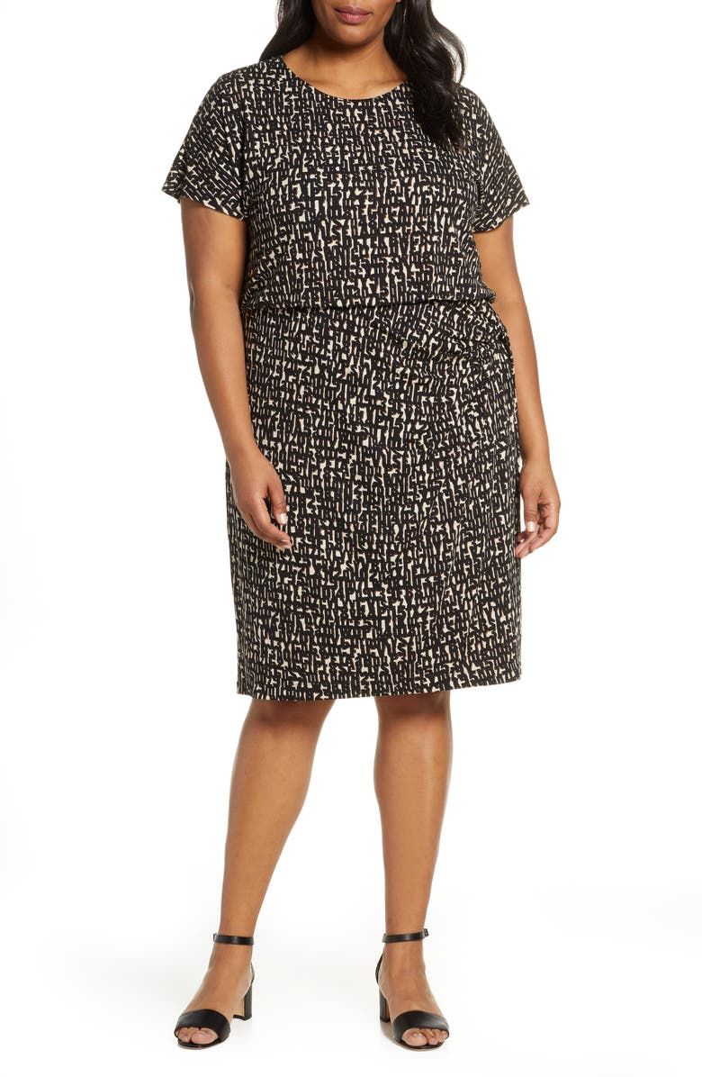 NIC ZOE Letterpress Twist Knit Dress Plus Size