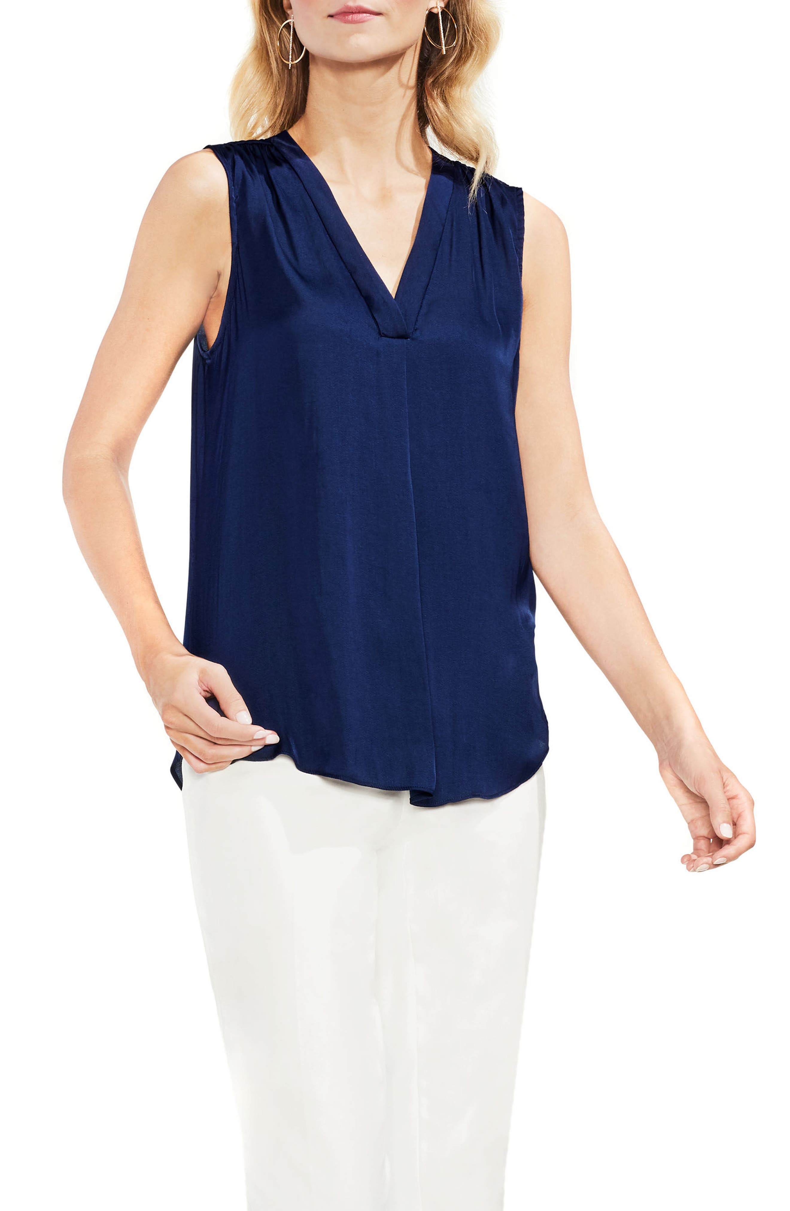 ,                             Rumpled Satin Blouse,                             Main thumbnail 168, color,                             406