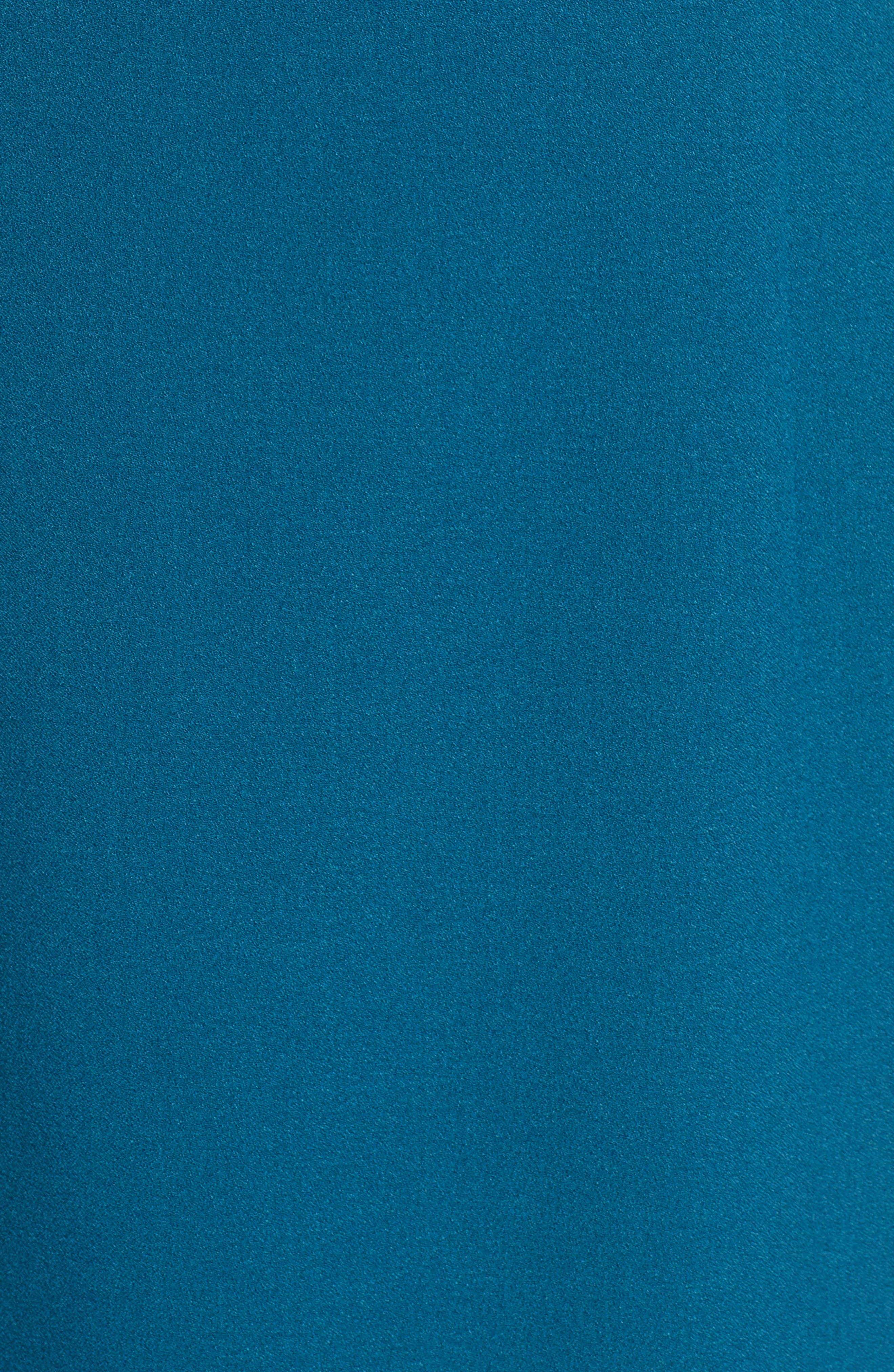 ,                             Tie Neck Sheath Dress,                             Alternate thumbnail 6, color,                             PEACOCK