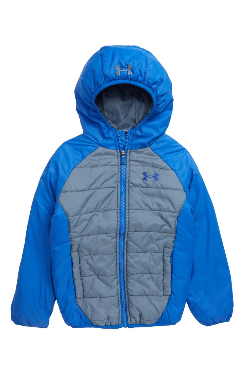 UNDER ARMOUR Tuckerman Storm<sup>™</sup> ColdGear<sup>®</sup> Waterproof Hooded Jacket, Main, color, ASH GRAY