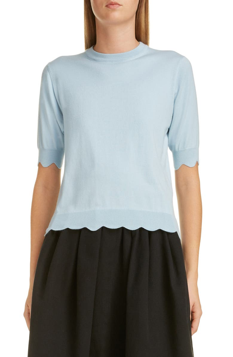 MARC JACOBS Scalloped Sweater, Main, color, 450