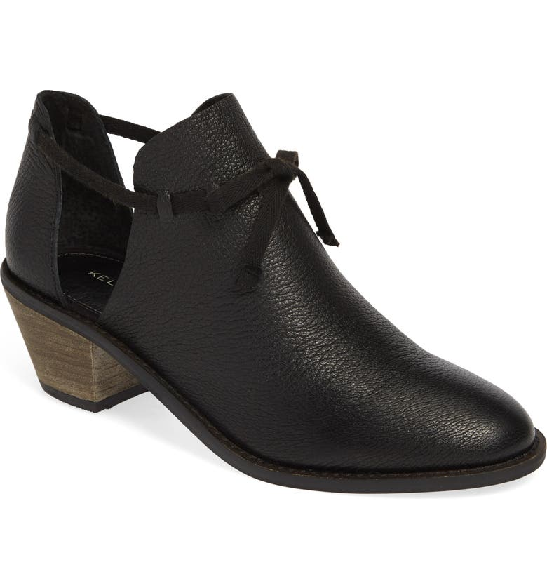 KELSI DAGGER BROOKLYN Kym Bootie, Main, color, BLACK LEATHER
