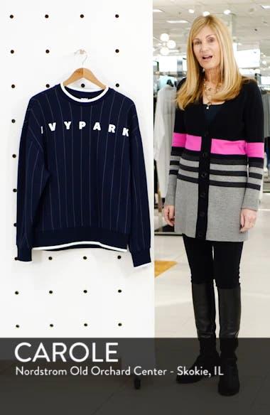 Baseball Pinstripe Sweatshirt, sales video thumbnail