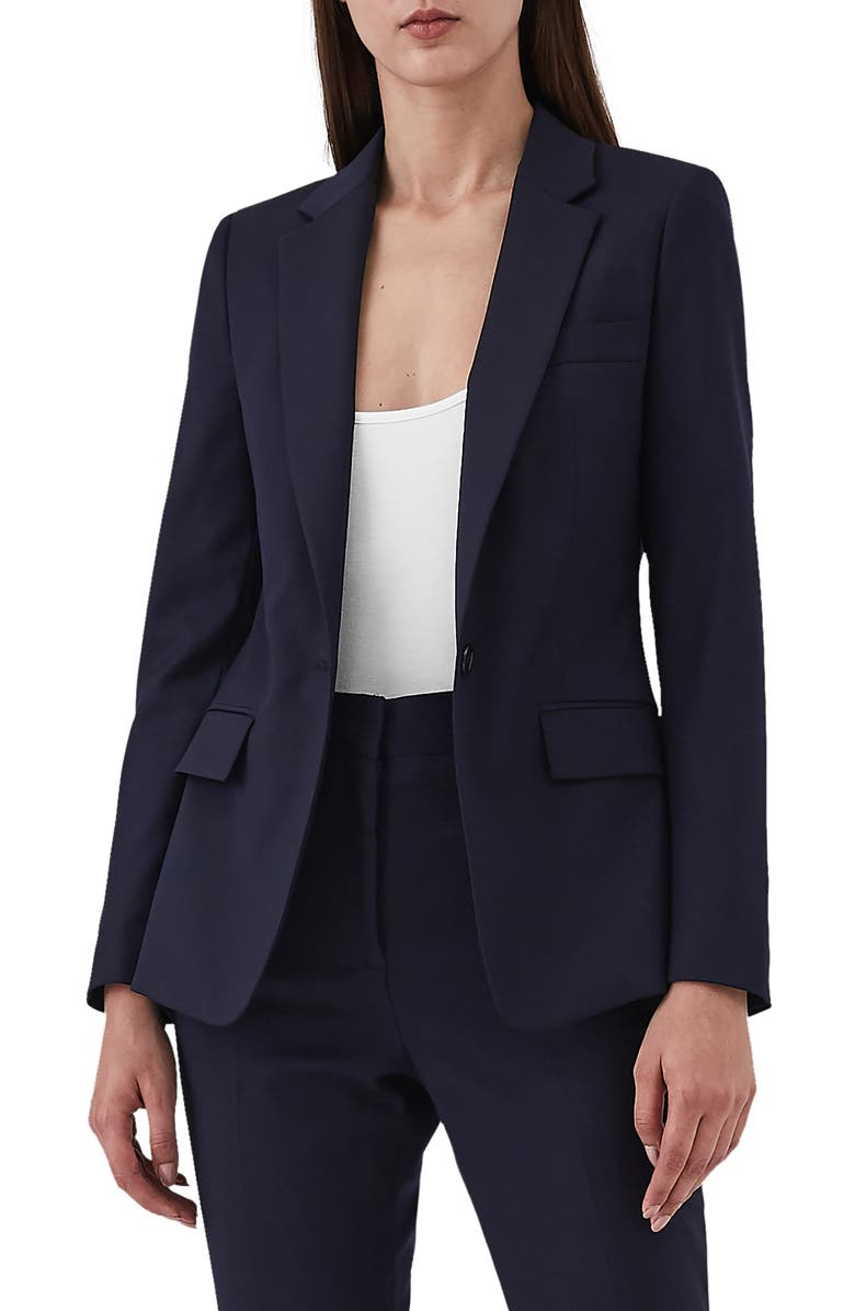 REISS Fenton Stretch Wool Blend Jacket, Main, color, 410