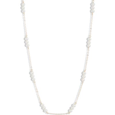 Poppy Finch Triple Baby Pearl Collar Necklace