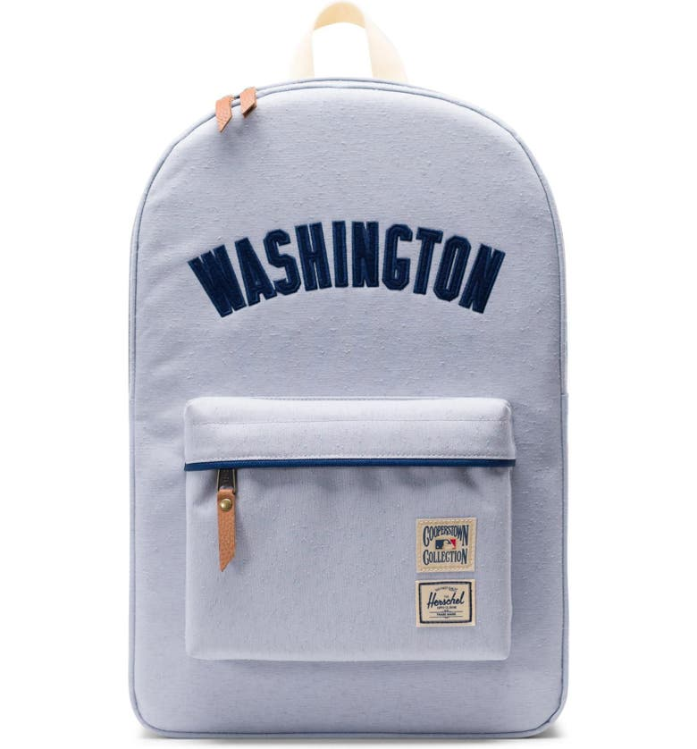 HERSCHEL SUPPLY CO. Heritage - MLB Cooperstown Collection Backpack, Main, color, WASHINGTON NATIONALS