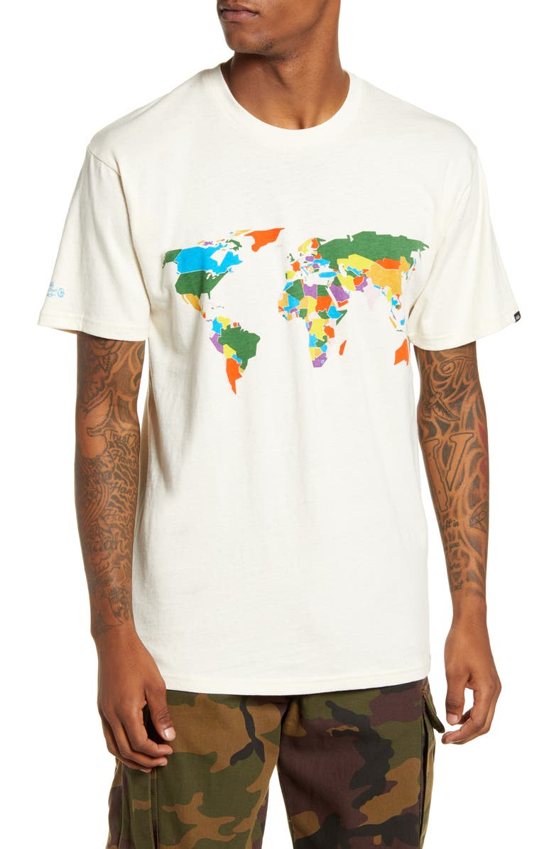 VANS Save Our Planet Graphic T-Shirt, Main, color, NATURAL