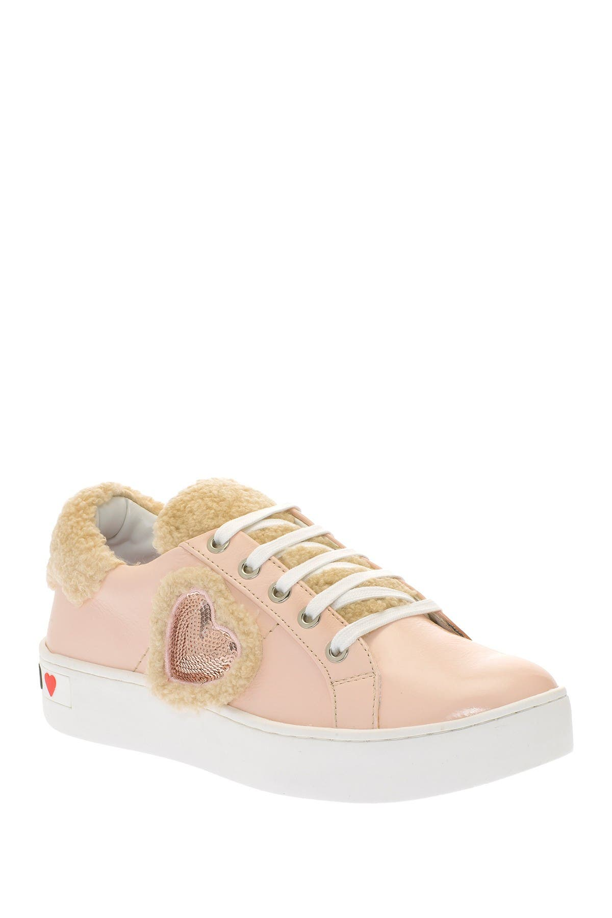 Image of LOVE Moschino Heart Faux Shearling Sneaker
