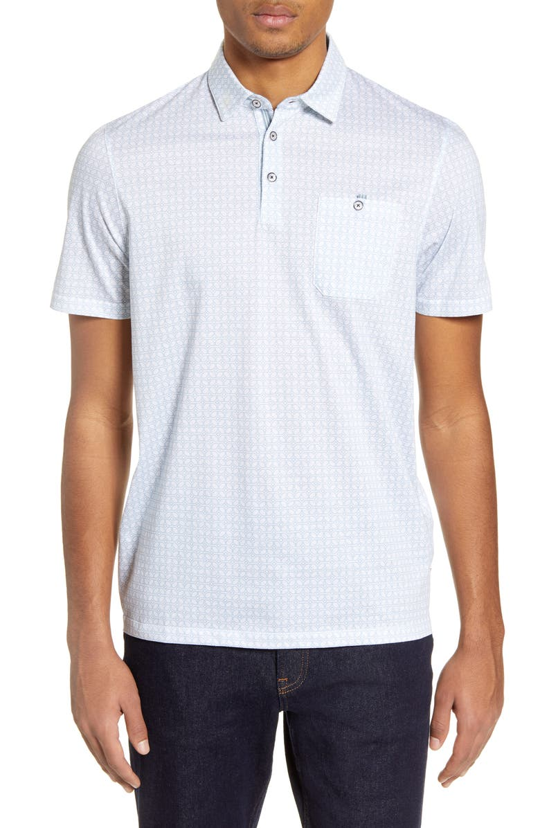 TED BAKER LONDON Ceepcup Pocket Polo, Main, color, WHITE