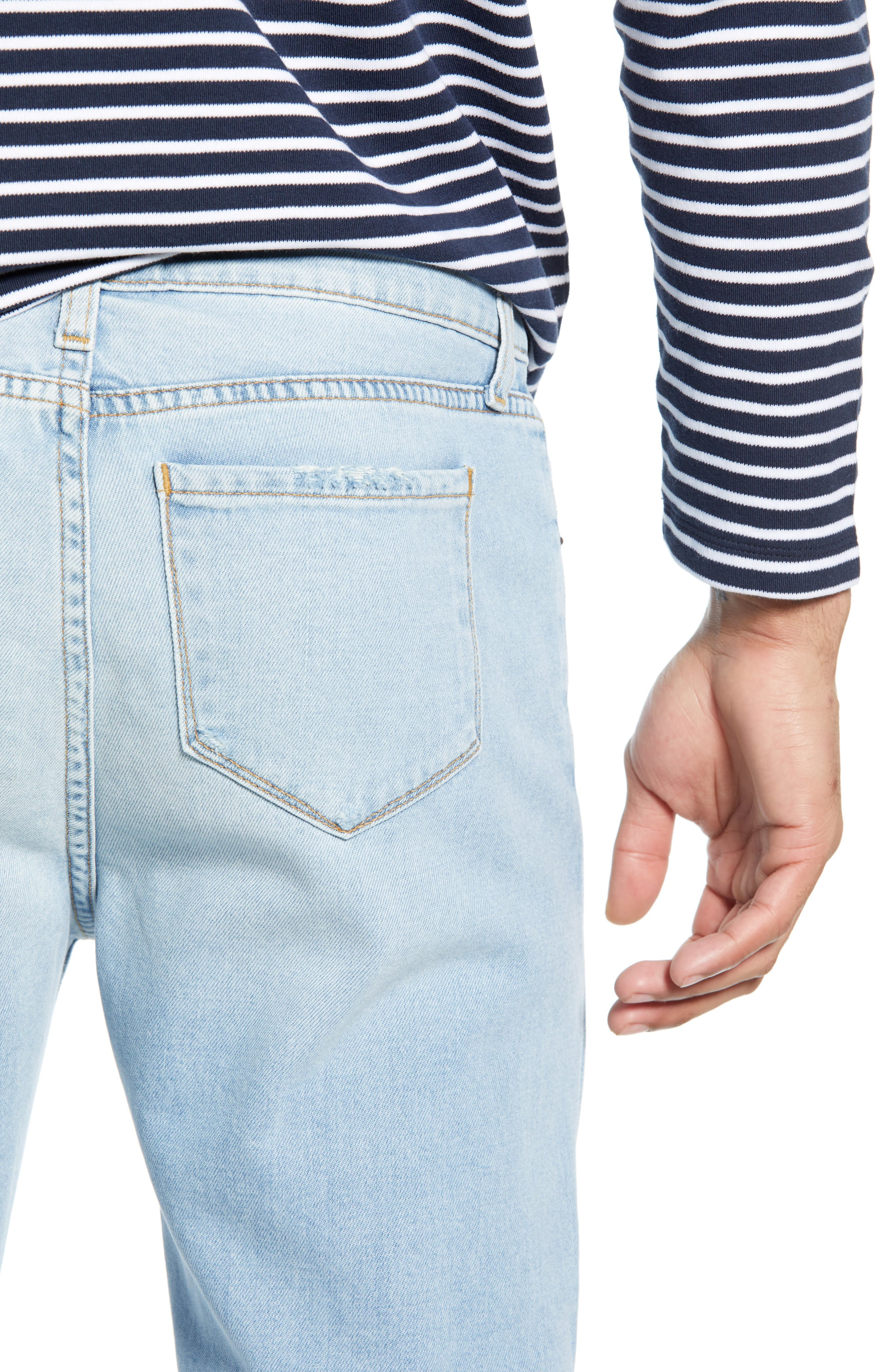 ,                             Greyson Skinny Fit Jeans,                             Alternate thumbnail 5, color,                             MYKONOS