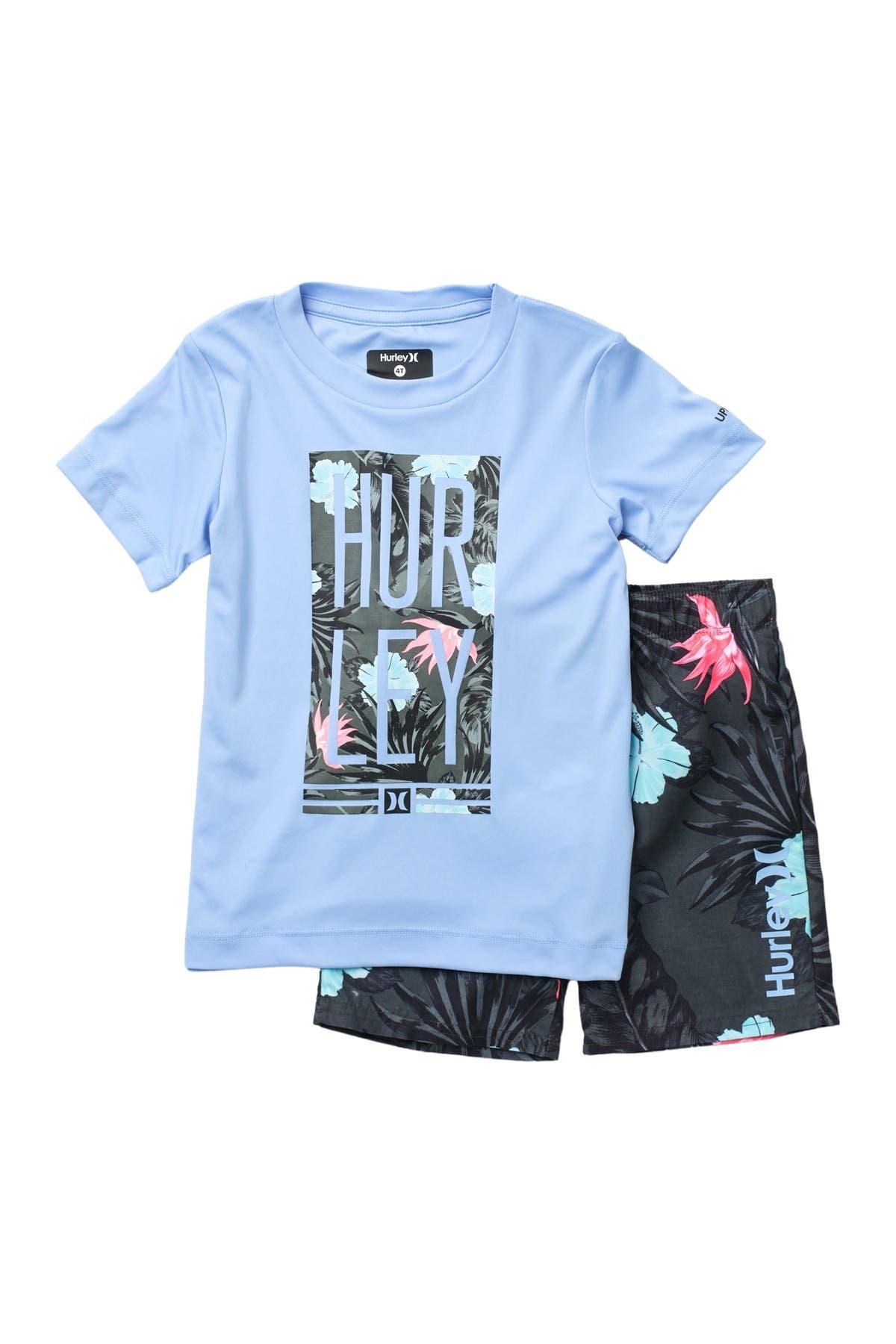 Image of Hurley Military UPF 50+ T-Shirt & Board Shorts Set