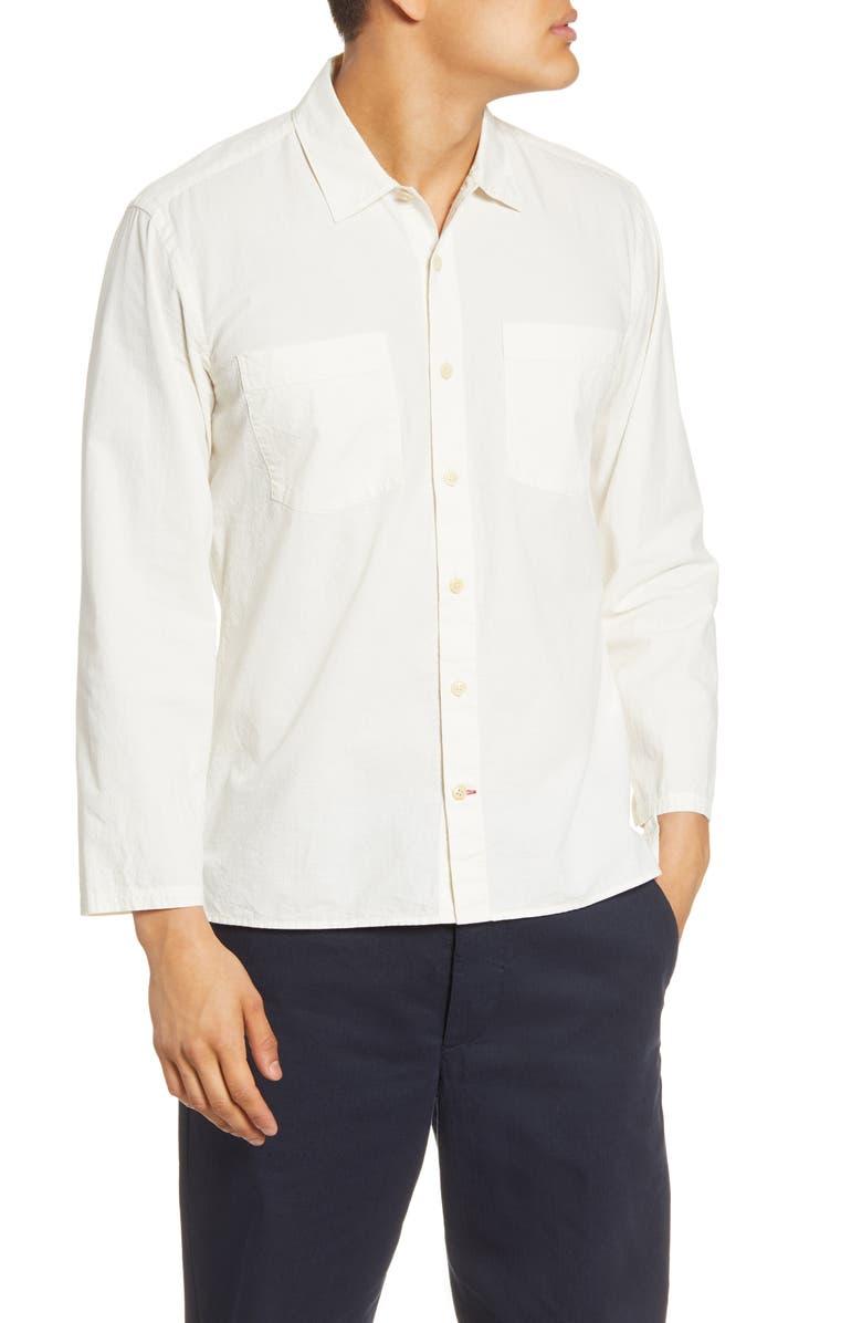 OLIVER SPENCER Warham Slim Fit Button-Up Shirt, Main, color, MARSTON CREAM