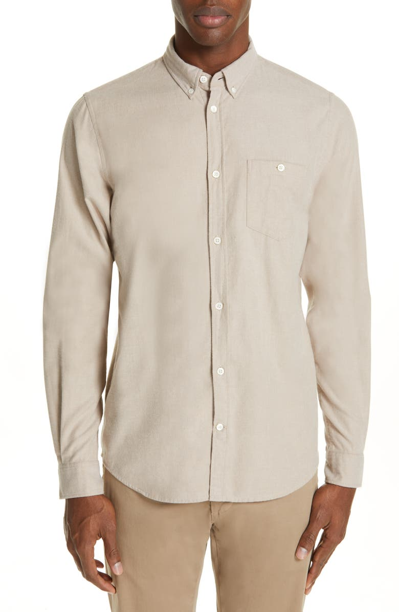 9a19528c55189b Norse Projects Anton Solid Brushed Flannel Shirt | Nordstrom