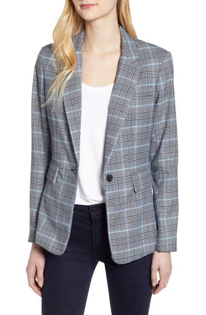 Image of 1.State Plaid One-Button Blazer