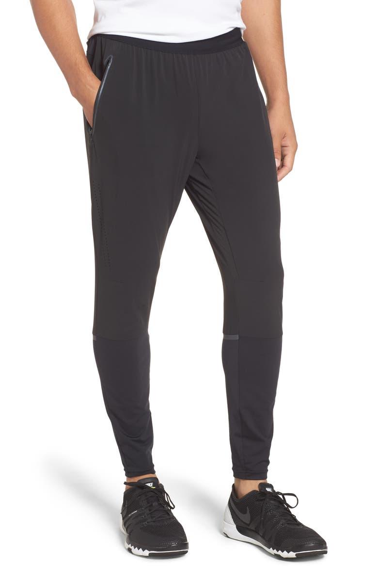 NIKE Swift Running Pants, Main, color, BLACK