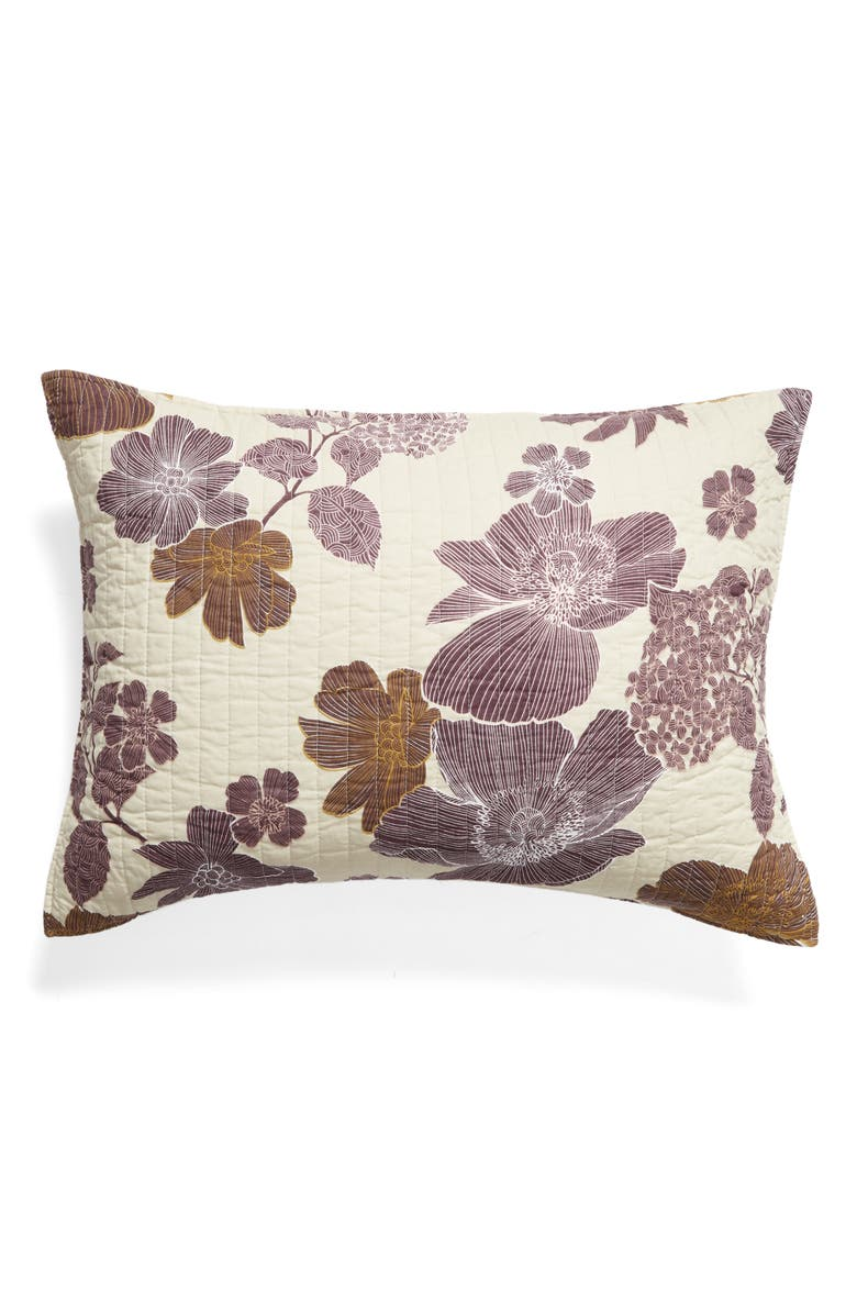 NORDSTROM Floral Air Print Quilted Standard Sham, Main, color, 024
