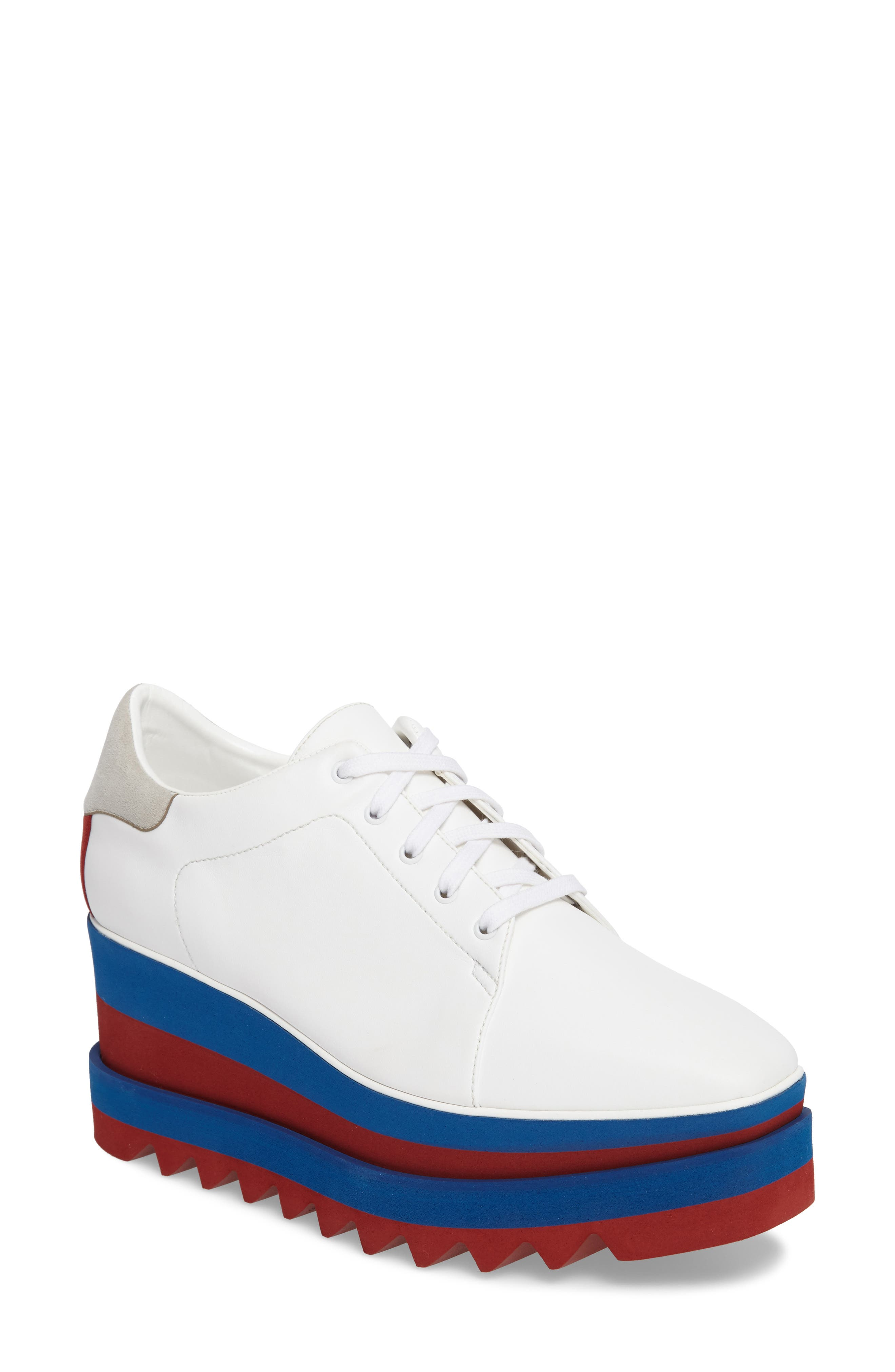 Stella Mccartney Sneak-Elyse Flatform Sneaker, White