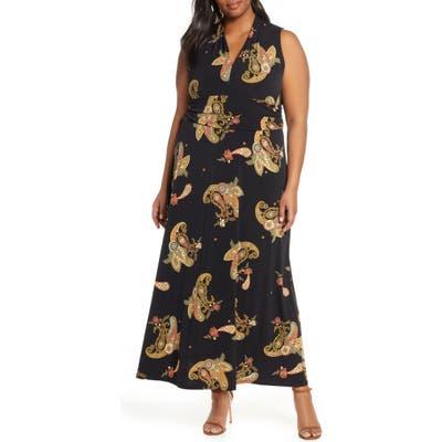 Plus Size Vince Camuto Paisley Spice Maxi Dress, Black