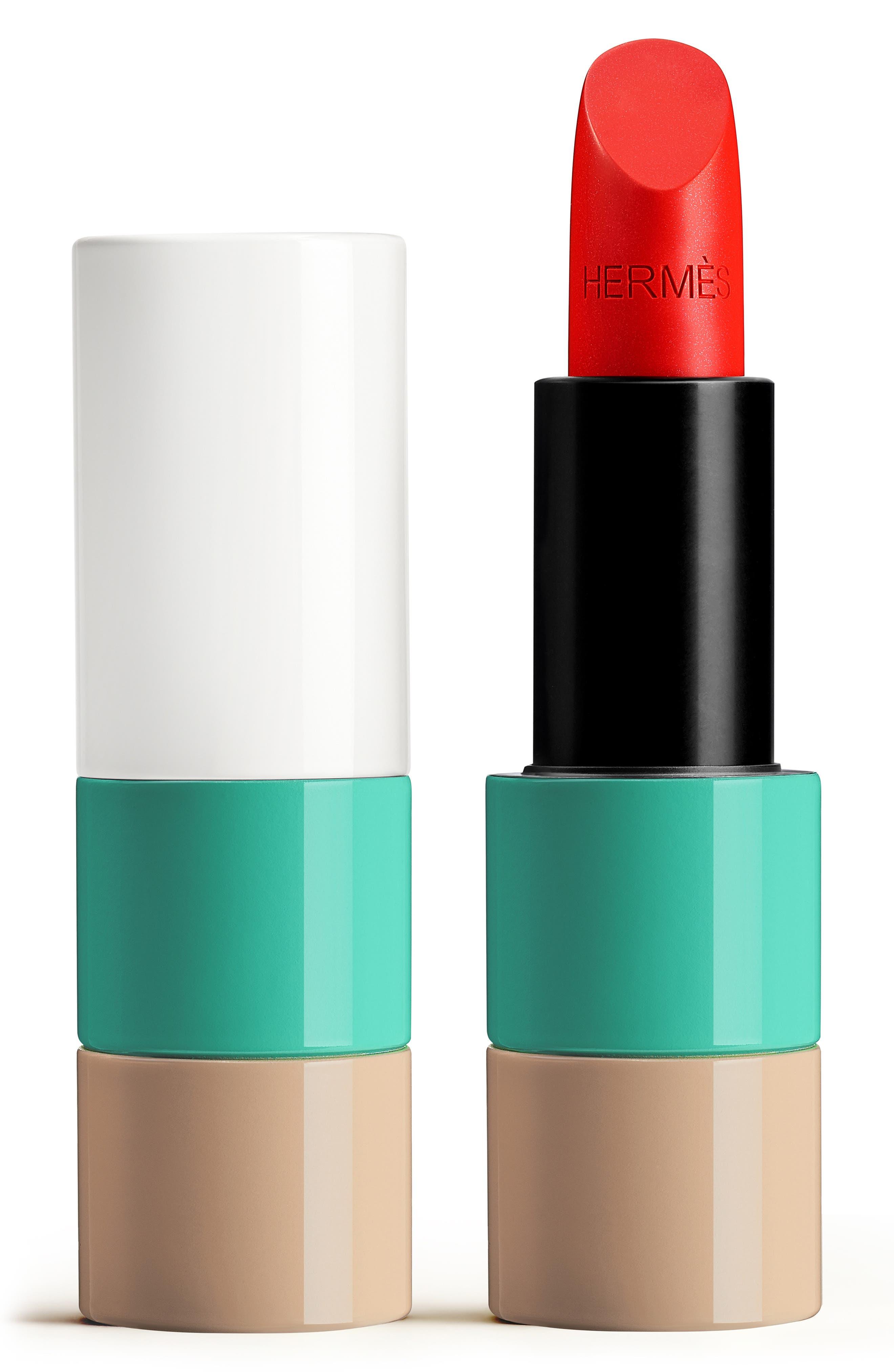 52 Corail Aqua Rouge Hermès - Satin Lipstick   Nordstrom