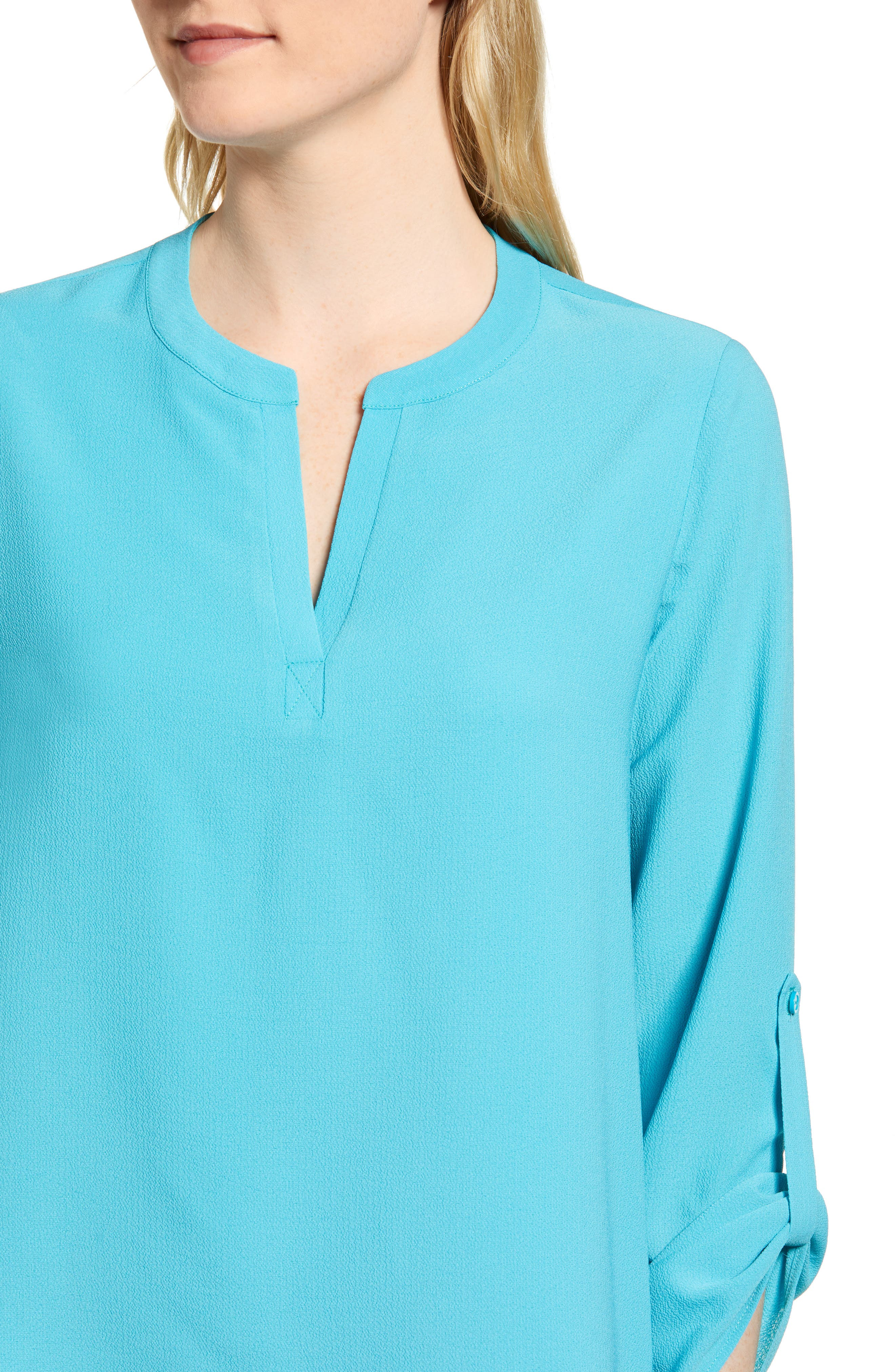 ,                             x International Women's Day Erin Cross Front Tunic Blouse,                             Alternate thumbnail 43, color,                             443