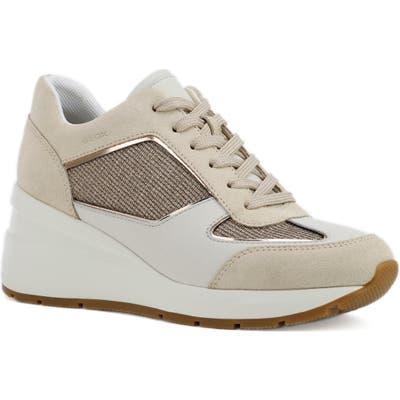 Geox Zosma Wedge Sneaker, Metallic