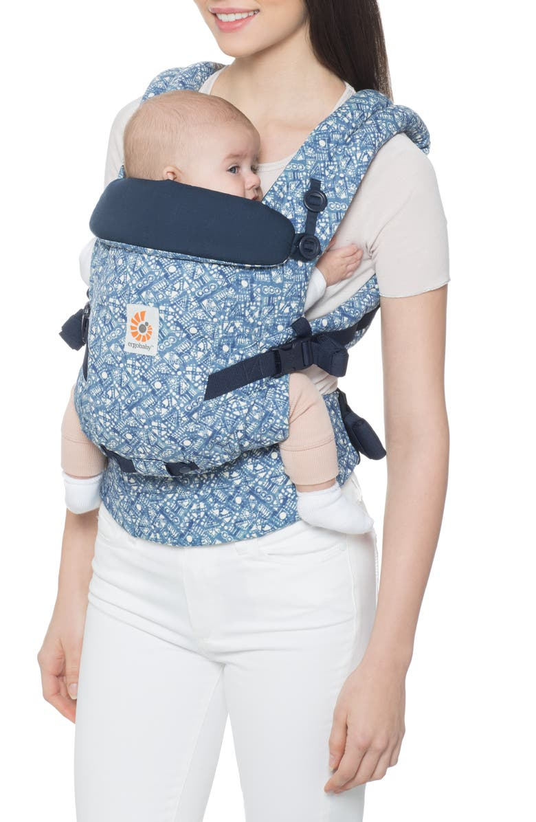 ERGOBABY Three Position ADAPT Baby Carrier, Main, color, BATIK INDIGO