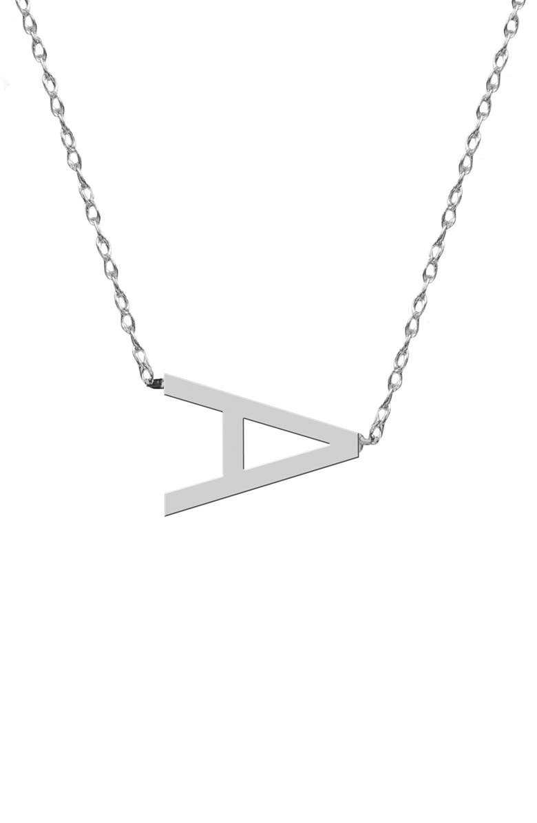 JANE BASCH DESIGNS Sideways Block Initial Pendant Necklace, Main, color, 040