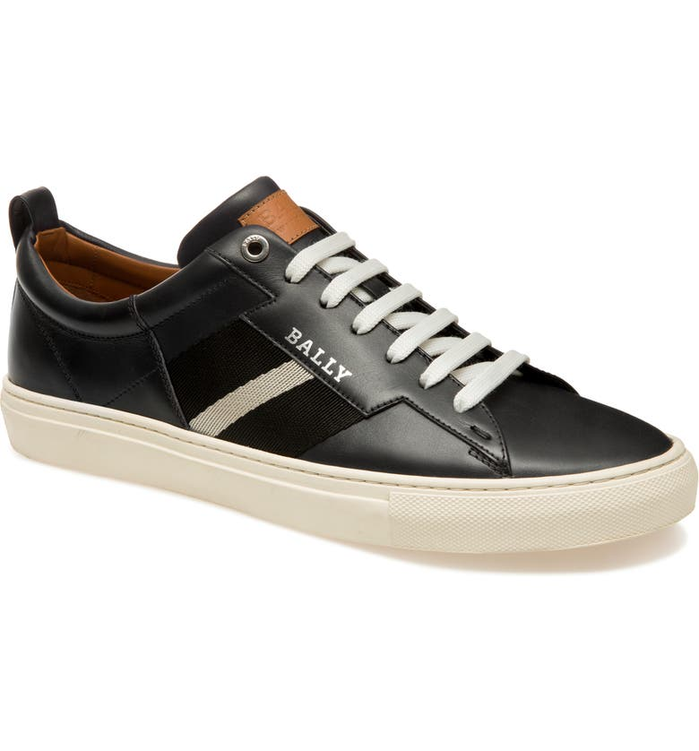 BALLY 'Helvio' Sneaker, Main, color, BLACK LEATHER
