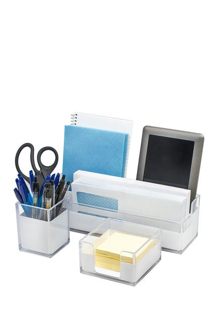 Image of Sorbus Acrylic Desk Organizers 3-Piece Set