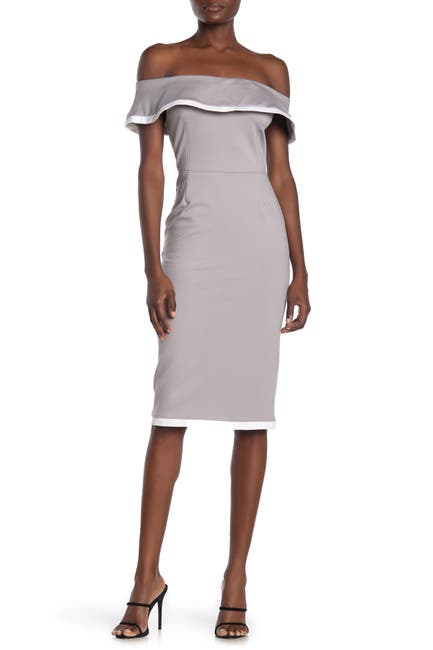 Image of Love by Design Sierra Off-The-Shoulder Bodycon Knit Dress