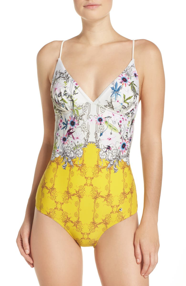 483a861909324 Ted Baker London Passion Flower One-Piece Swimsuit | Nordstrom