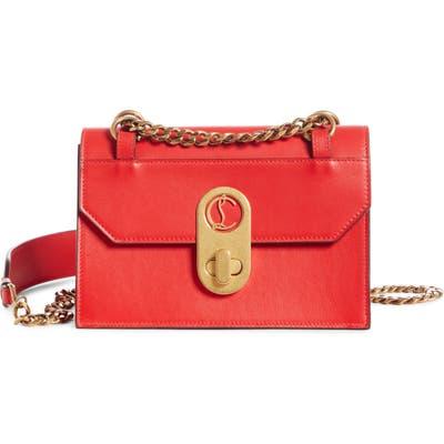 Christian Louboutin Mini Elisa Calfskin Leather Shoulder Bag - Red