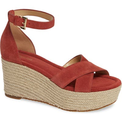 Michael Michael Kors Desiree Jute Espadrille Wedge- Red