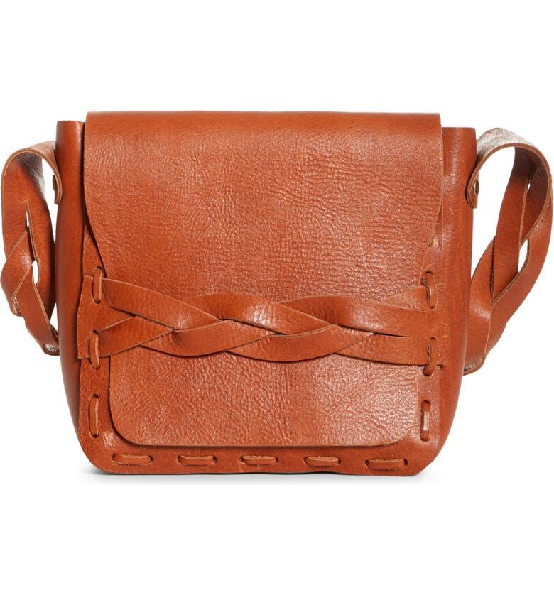 ANNA SUI Lilou Leather Shoulder Bag, Main, color, 200