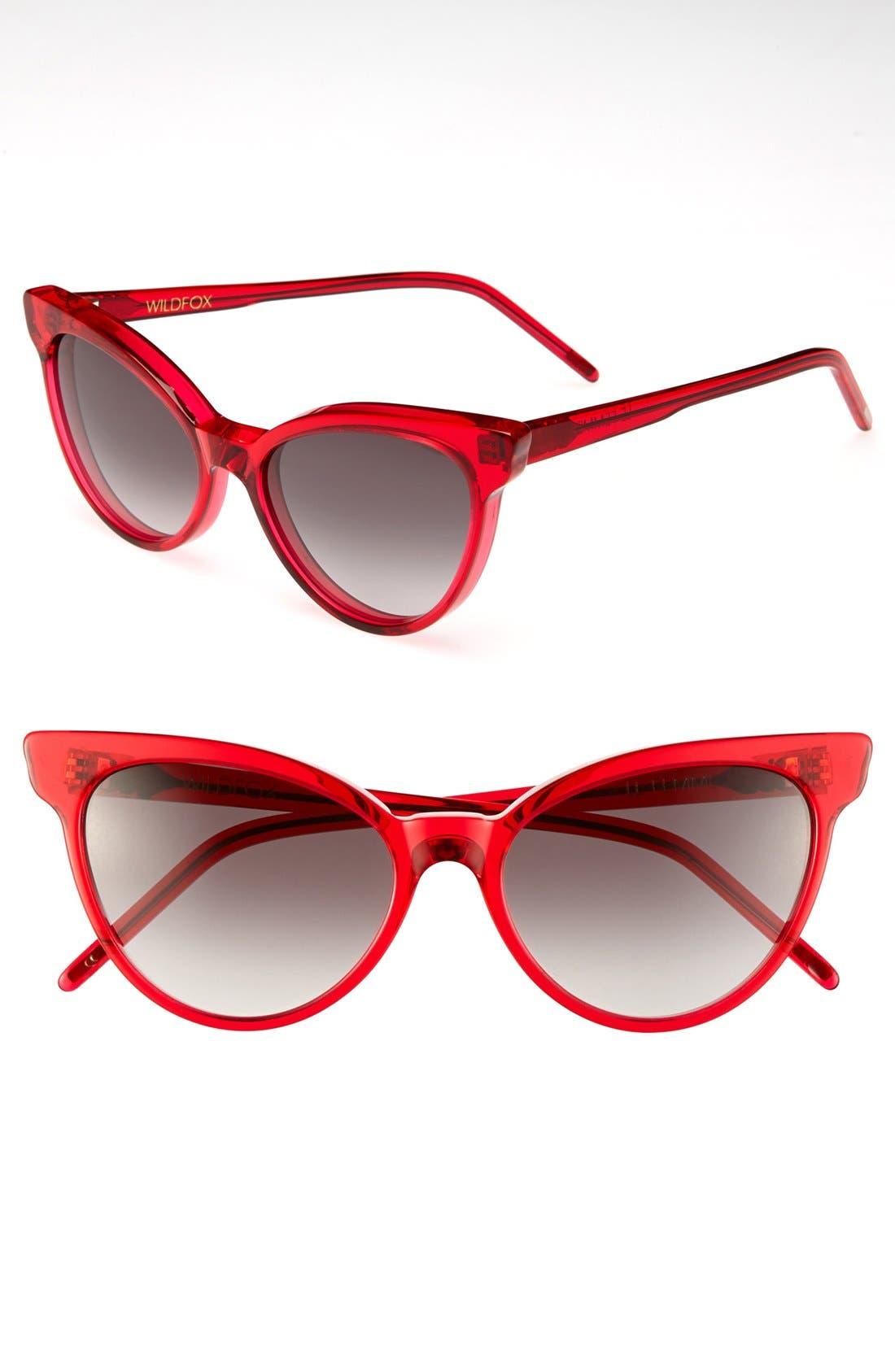 ,                             'La Femme' 55mm Sunglasses,                             Main thumbnail 16, color,                             600