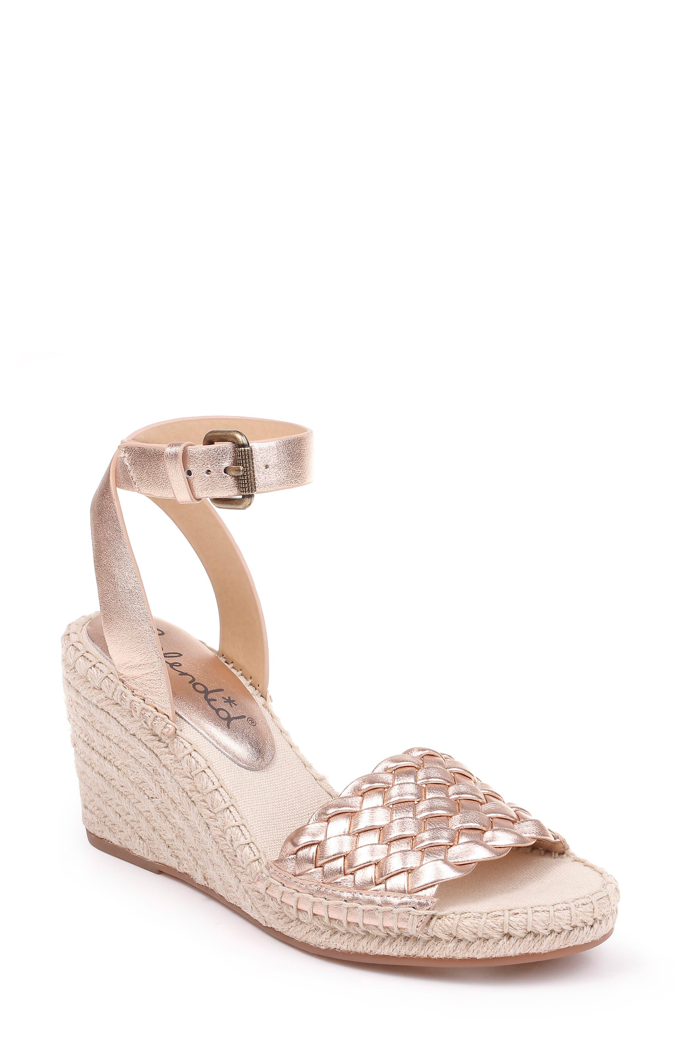 Splendid Tasman Woven Espadrille Sandal- Pink