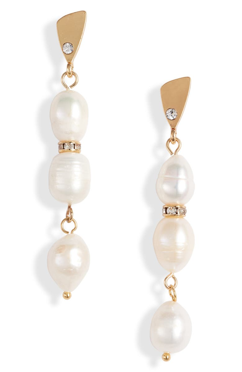ETTIKA Pearl Drop Earrings, Main, color, PEARL WHITE