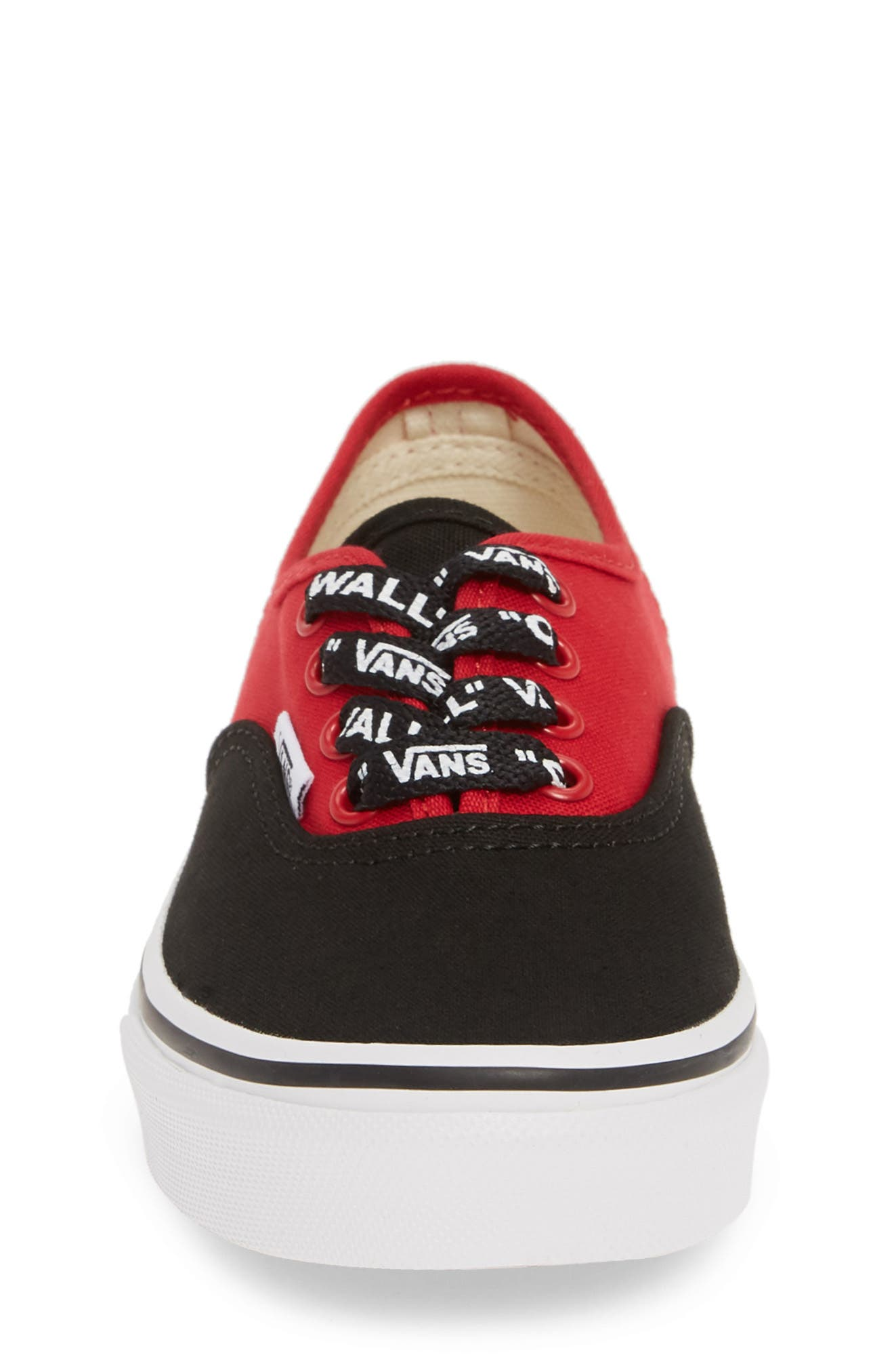 ,                             Authentic Sneaker,                             Alternate thumbnail 4, color,                             LOGO POP BLACK/ TRUE WHITE