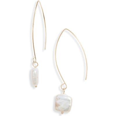 Ten79La Natural Pearl Hanger Earrings