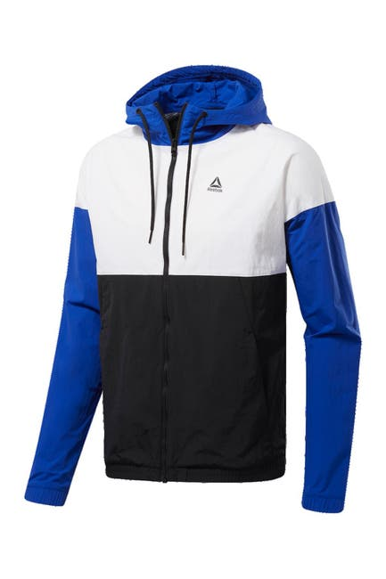 Image of Reebok Big Logo Hooded Windbreaker Zip Jacket