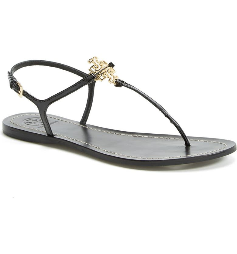 TORY BURCH 'Melinda' Flat Sandal, Main, color, 001