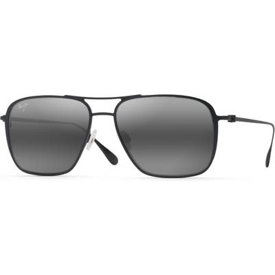 Maui Jim Beaches Polarizedplus2 57mm Navigator Sunglasses - Matte Black