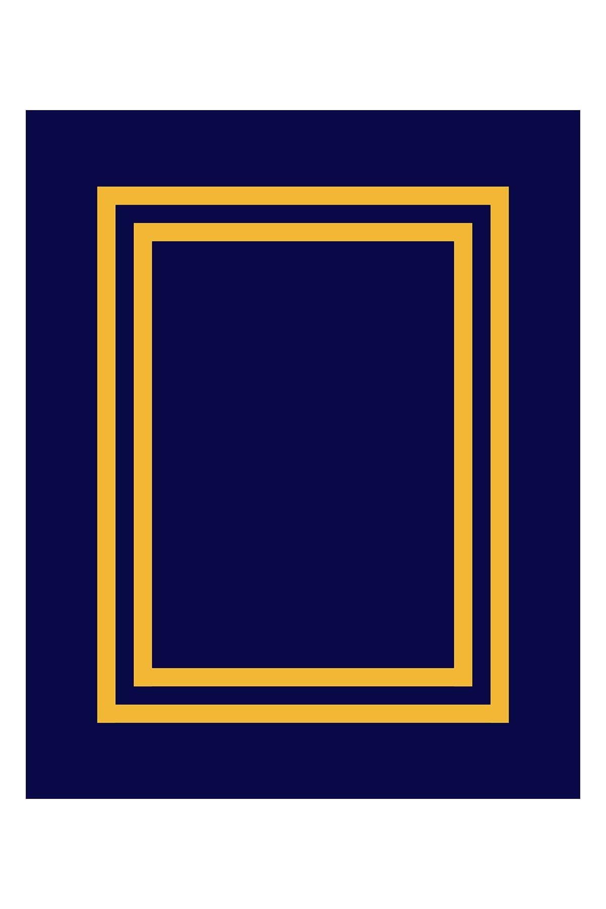 Image of Apollo Towels Beach Blanket - Navy/Gold