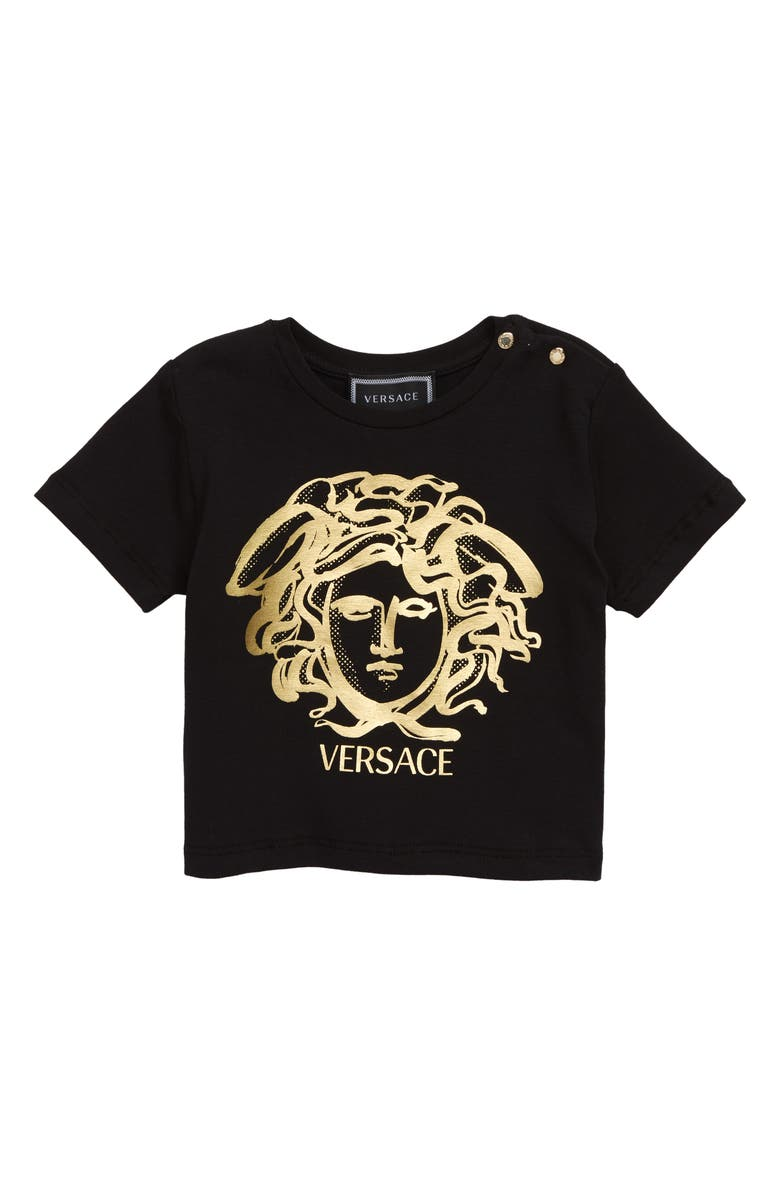 VERSACE Medusa Print T-Shirt, Main, color, 001